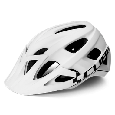 CASCO MTB CUBE AM RACE WHITE-BLACK