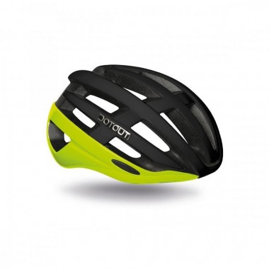 CASCO DOTOUT TARGA SHINY YELLOW FLUO-MATT BLACK