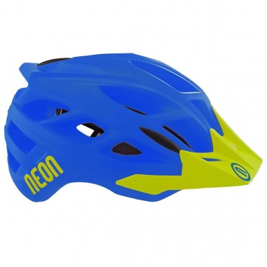 CASCO MTB NEON HIDE BLUE-YELLOW