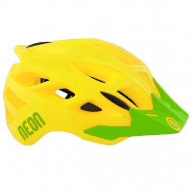 CASCO MTB NEON HIDE YELLOW-GREEN