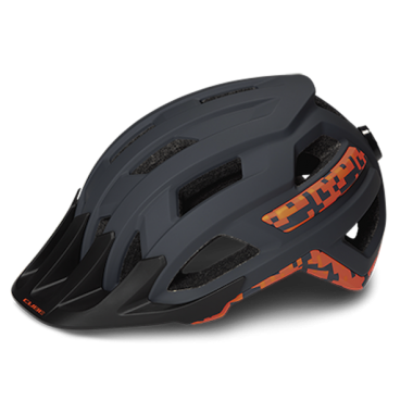 CASCO MTB CUBE ROOK GREY'N'ORANGE