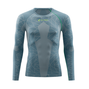 MAGLIA TERMICA CUBE RACE BE WARM L/S GREY'N'GREEN