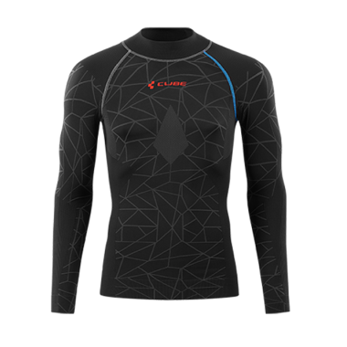 MAGLIA TERMICA CUBE RACE BE WARM L/S BLACK
