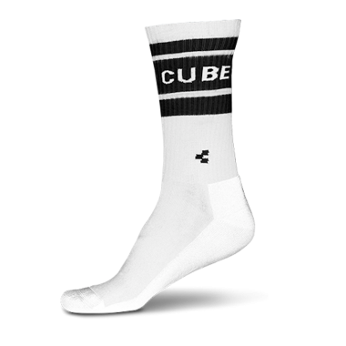CALZE CUBE EXTRA HIGH CUT WHITE'N'BLACK