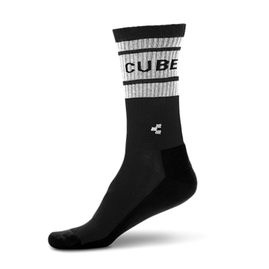 CALZE CUBE AFTER RACE HIGH CUT BLACK'N'WHITE