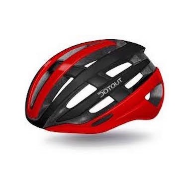 CASCO DOTOUT TARGA MATT BLACK-SHINY RED