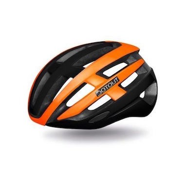 CASCO DOTOUT TARGA MATT BLACK-SHINY ORANGE FLUO